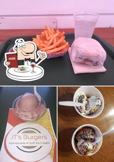 Food at JTs Burgers