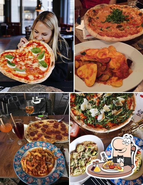 Kostet diverse Variationen von Pizza