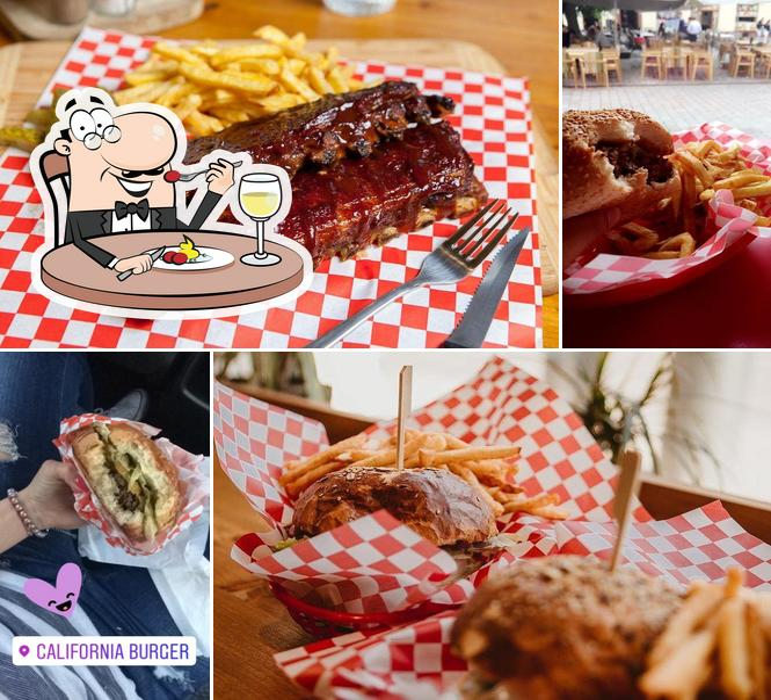 Comida en California Burger