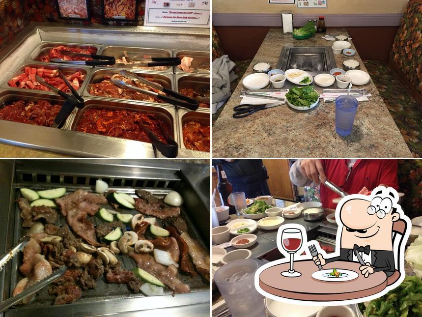 Food at Cham Garden Korean BBQ