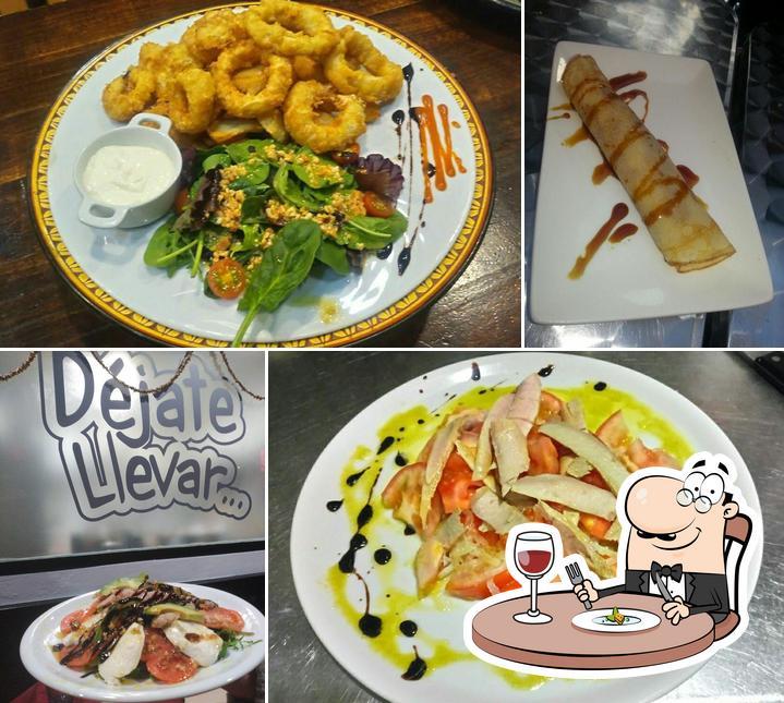 Comida en Cafeteria, Bar, Restaurante Déjate Llevar
