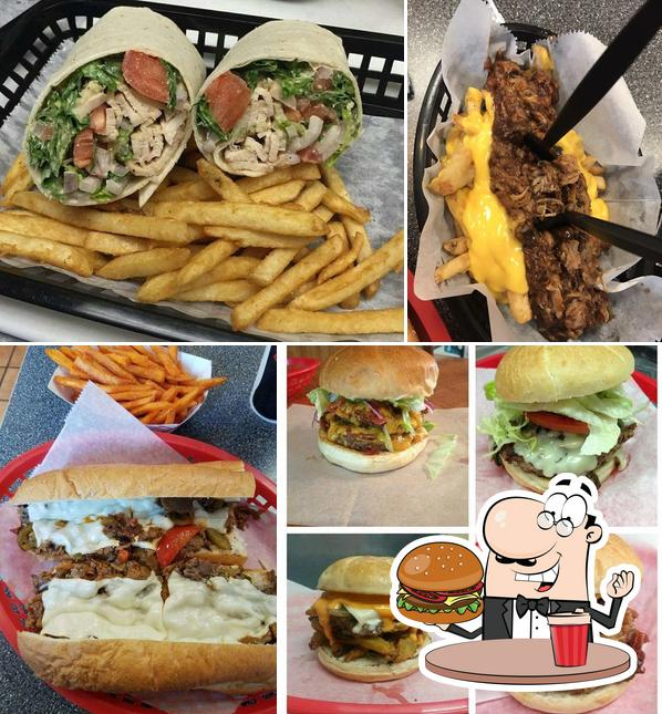 Get a burger at Mac's Philly Steaks