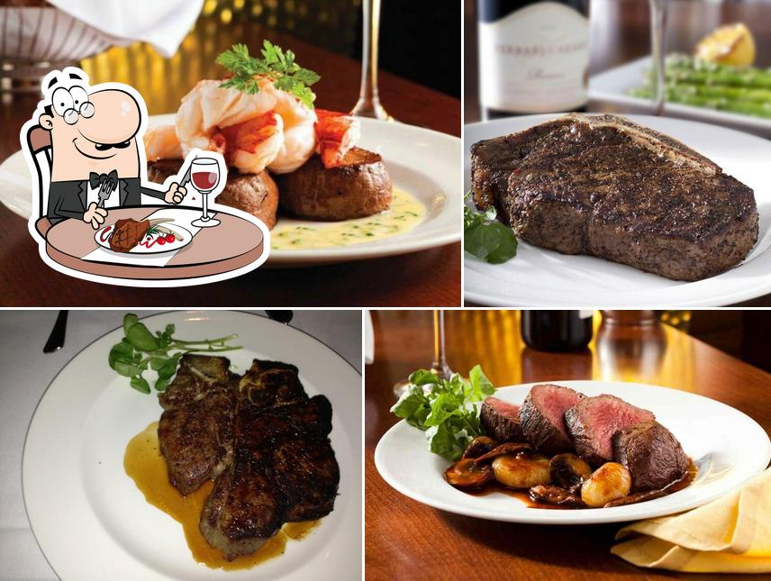 Order meat dishes at The Capital Grille