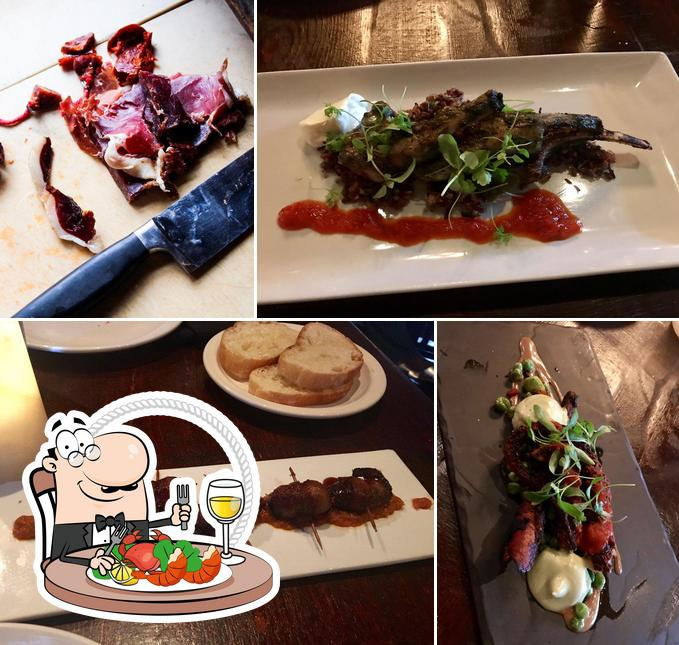 Get seafood at The Iberian Pig