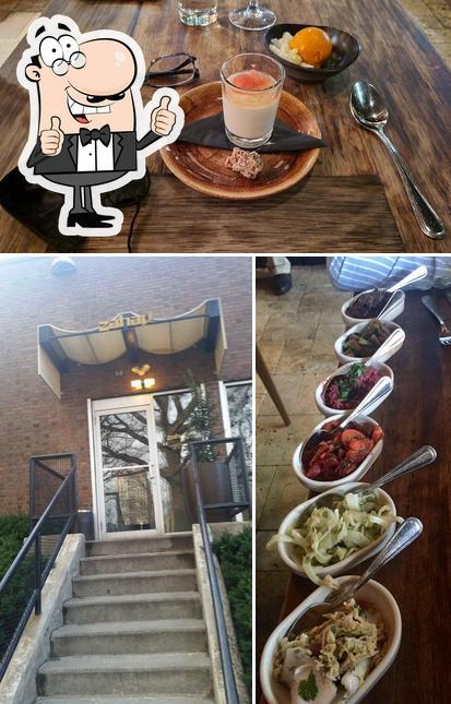 See this pic of Zahav