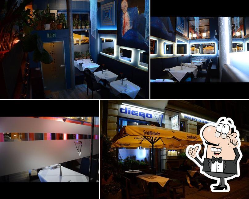 El interior de Diego Restaurant & Bar