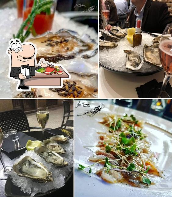 Order various seafood meals available at La Medusa Ostrería