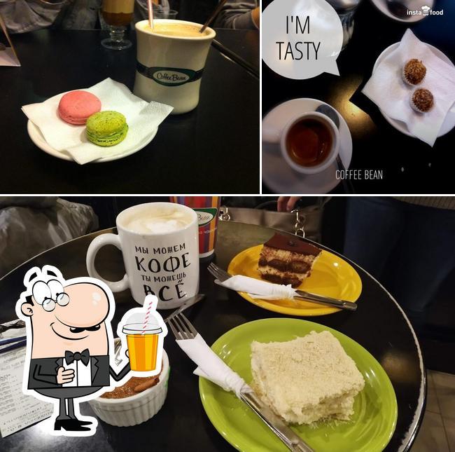 Enjoy a beverage at Coffee Bean