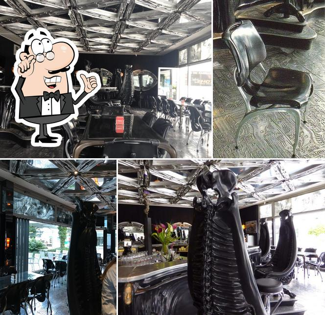 The interior of Giger Bar