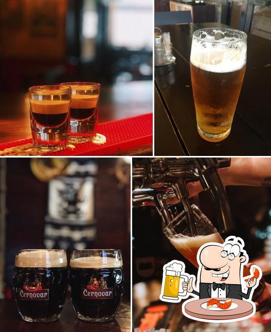 Насладитесь стаканом темного или светлого пива