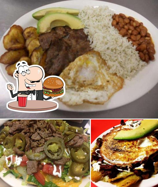 Try out a burger at Taco Love Grill