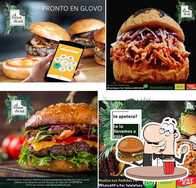 Get a burger at Al toque de sal