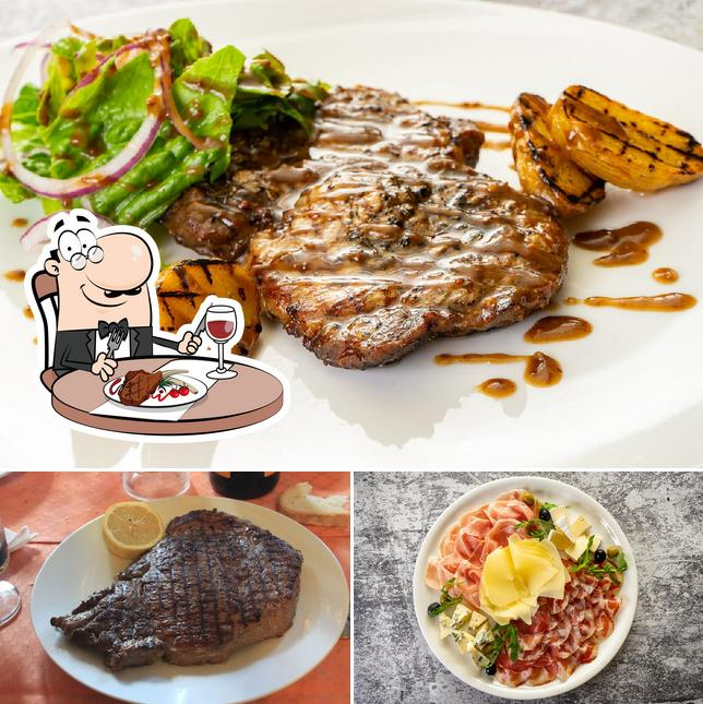 Order meat dishes at Cafe Sicilia Moscow