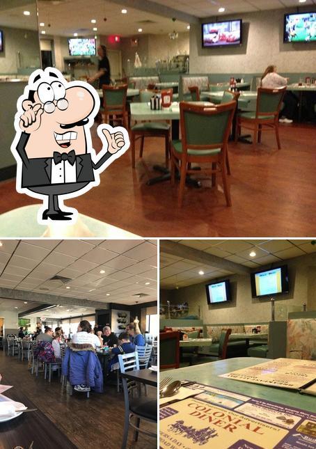 El interior de Colonial Diner