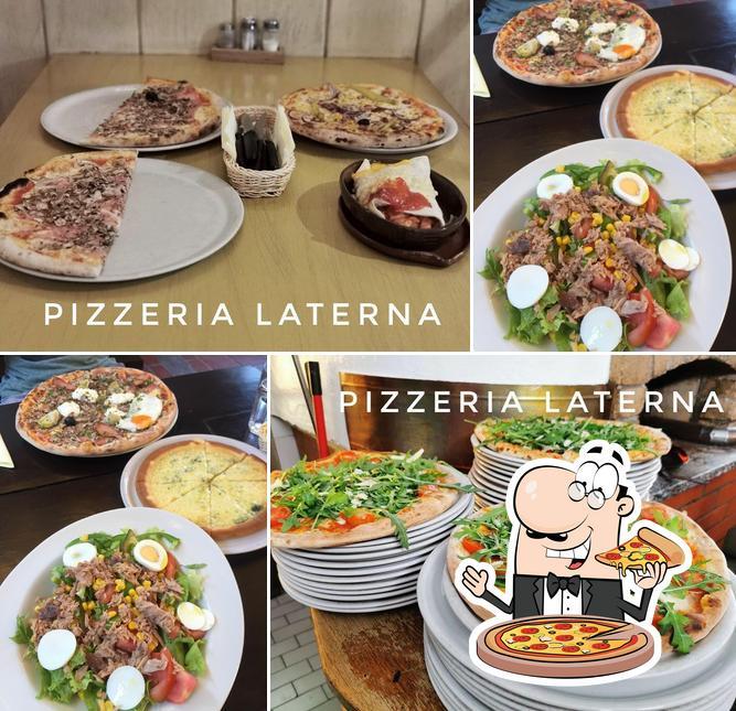 Pick pizza at Pizzerija Laterna