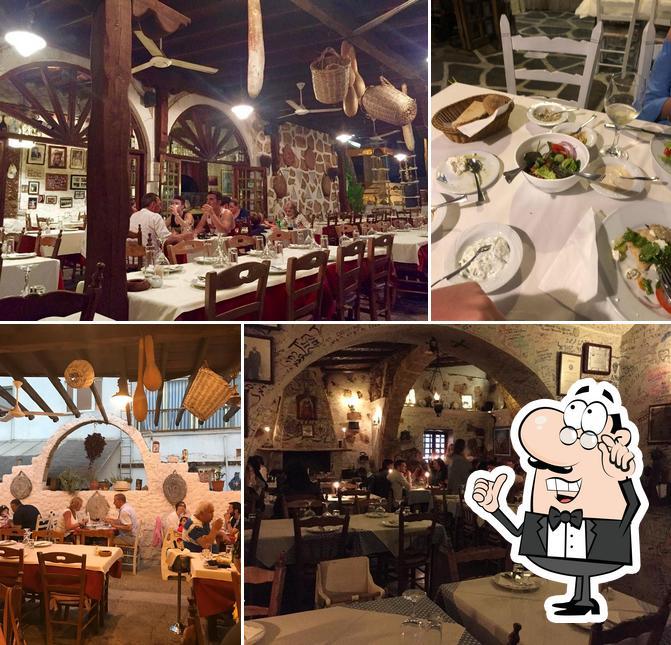 The interior of Taverna Napa