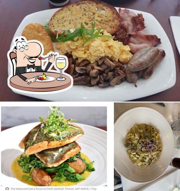 Food at Xenos Restaurant Bar Cafe