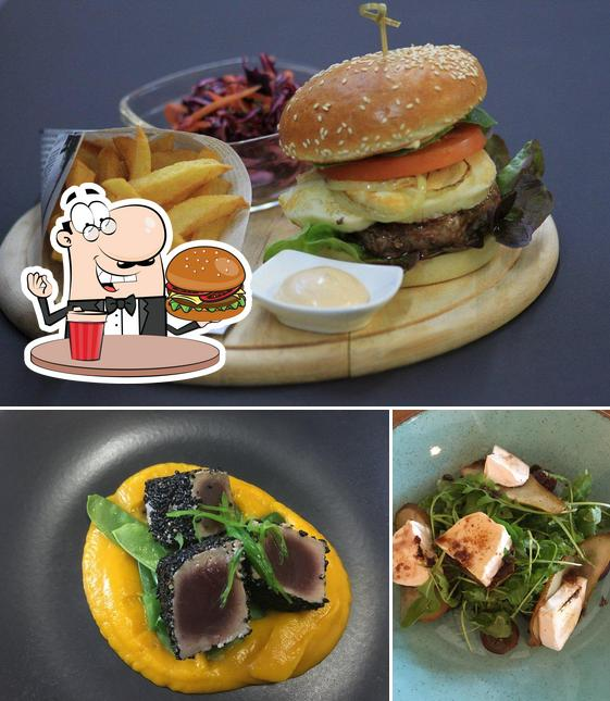 Try out a burger at Yama Restaurant
