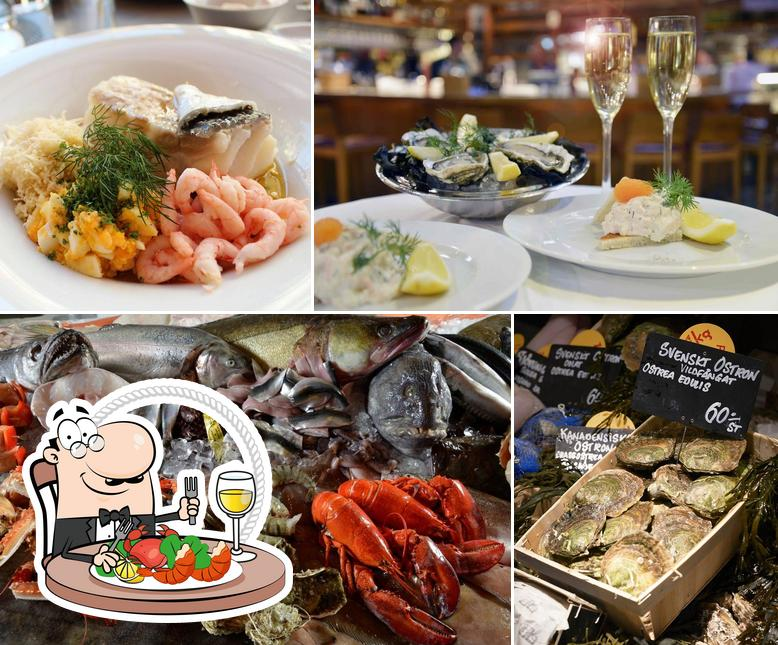 Try out seafood at Lisa Elmqvist