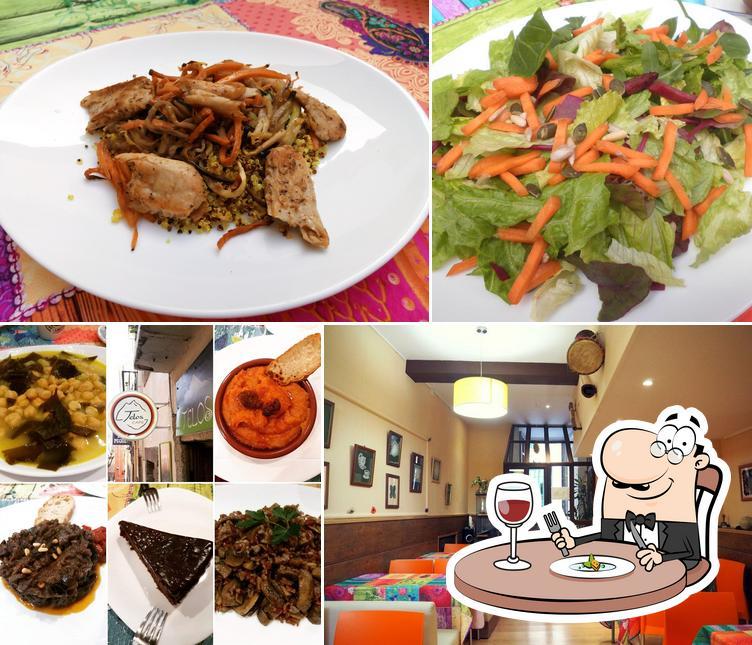 Comida en Telos. Comida Casera Natural - Vegetariana, vegana y sin gluten. Platos con Heura