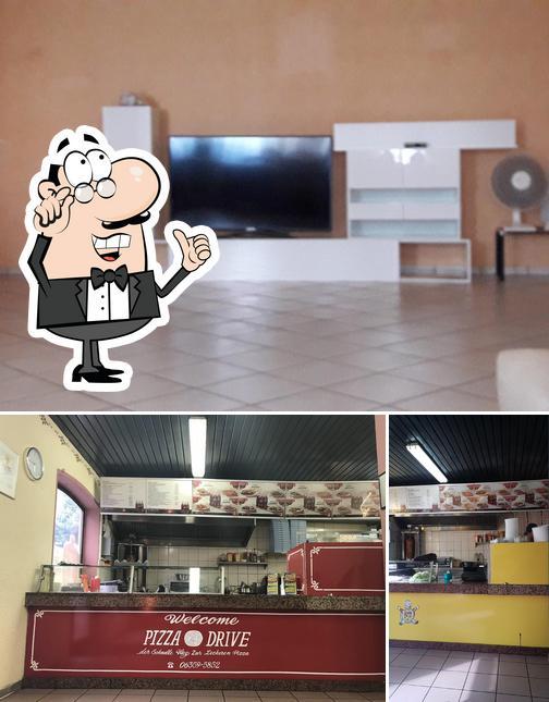 Die Inneneinrichtung von Pizza Drive