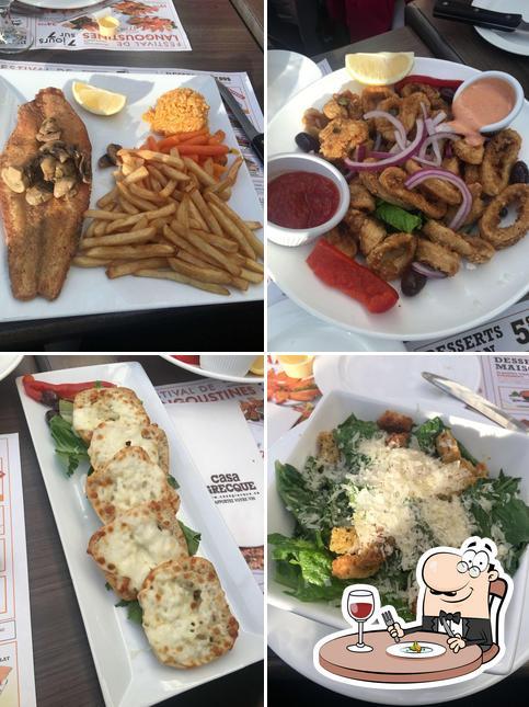 Food at Restaurant Casa Grecque
