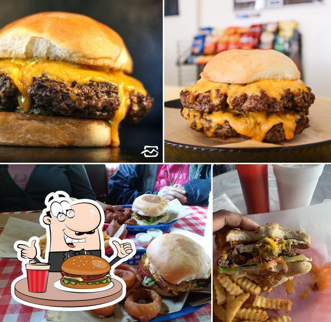 Get a burger at Mark's Outing