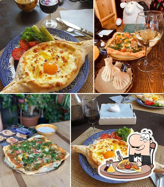 Try out pizza at Supra
