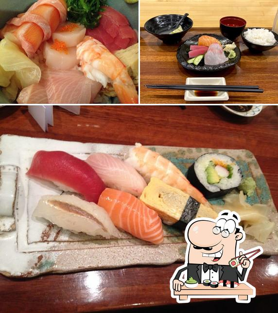 Sushi rolls are served at The Sushi Counter
