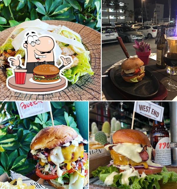Try out a burger at West End Restaurant