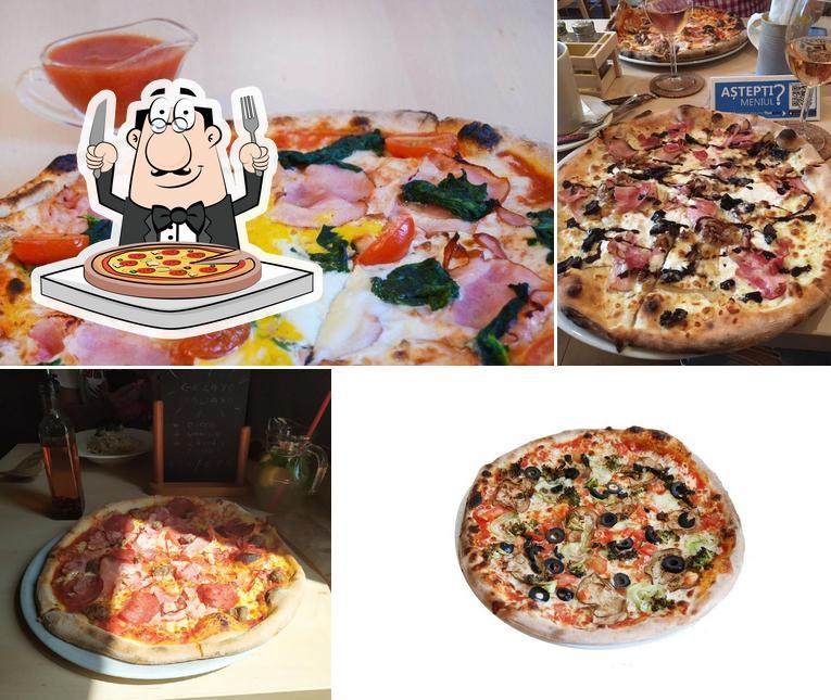 Commandez différents genres de pizzas