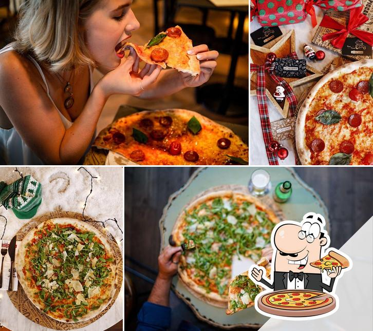 Get pizza at L'osteria