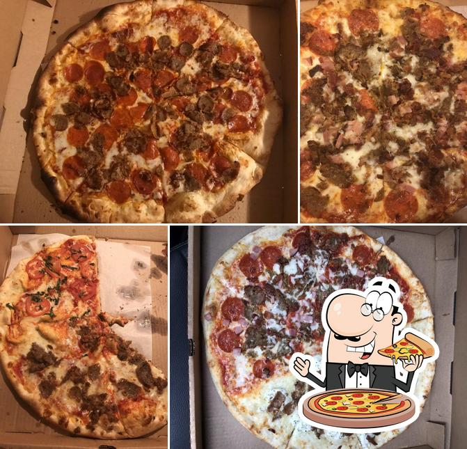 Try out pizza at Santino's
