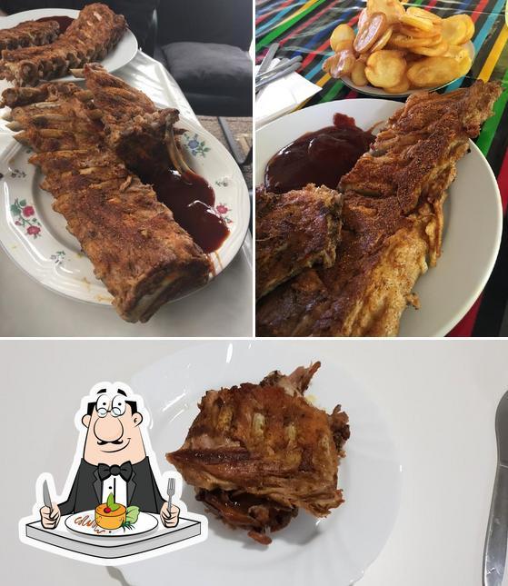 Comida en Hakim's Steakhouse