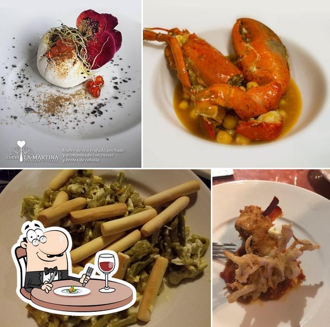 Food at Cueva la Martina