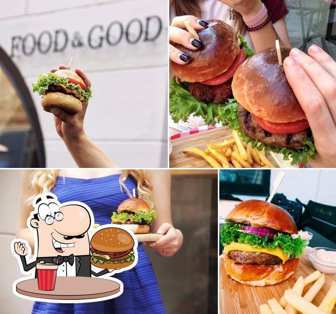 Order a burger at Food and Good