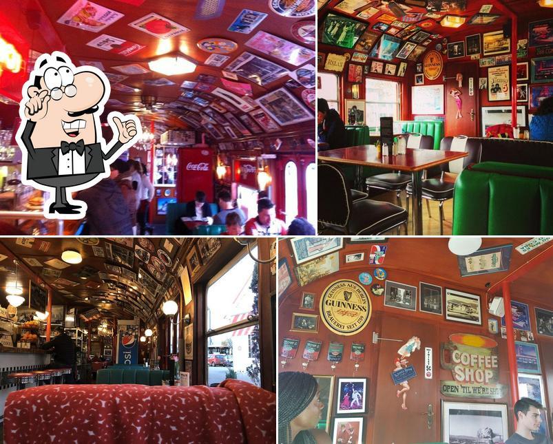 El interior de Mandy's Railway Diner