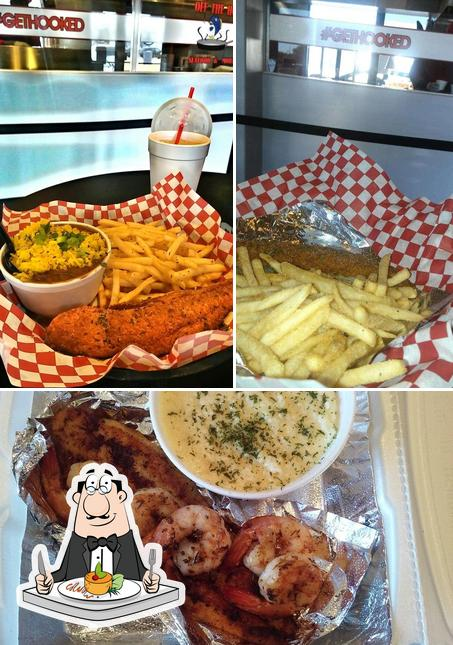 Comida en Off The Hook Seafood And More