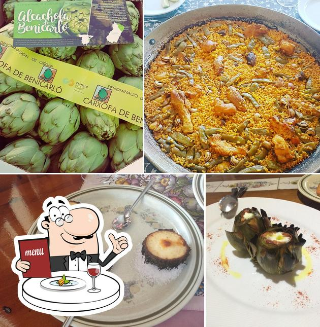 Comida en Restaurante Rafael