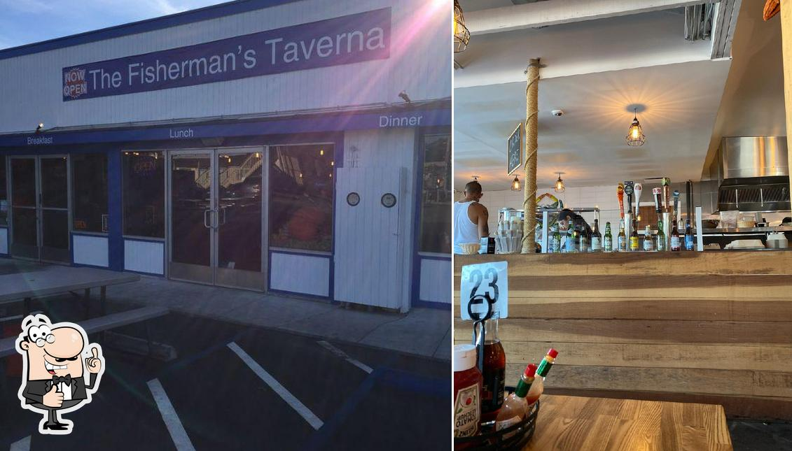 See this pic of The Fisherman's Taverna