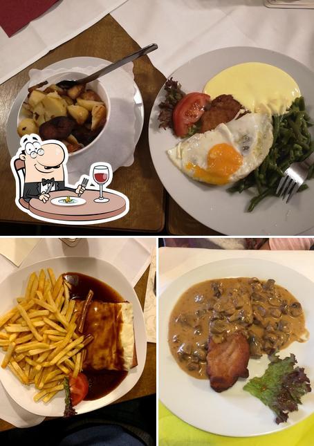 Essen im Gaststätte zum goldenen Schlüssel