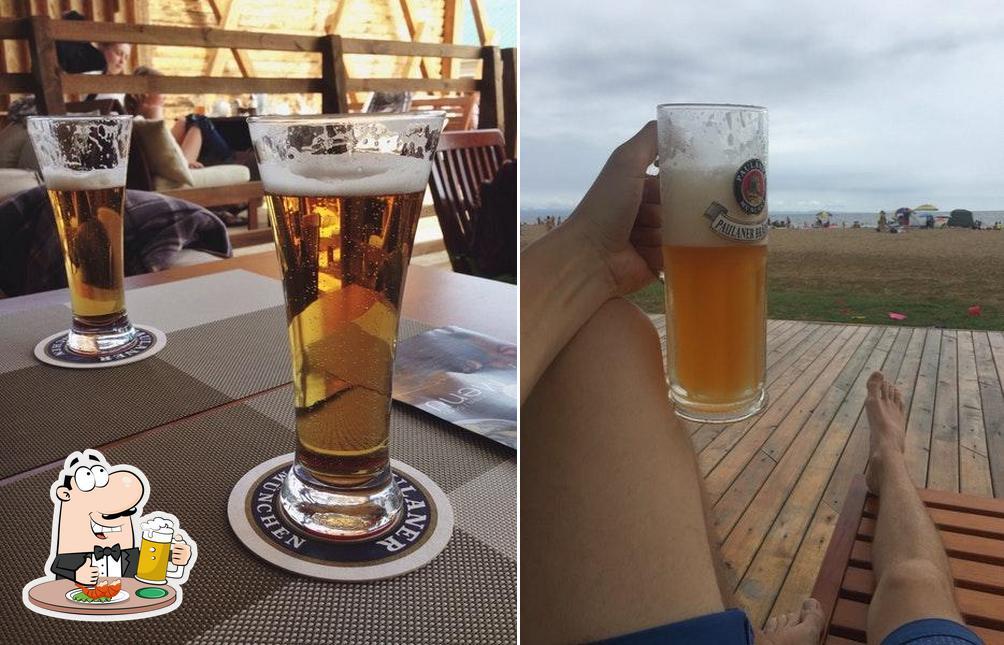 Насладитесь пинтой темного или светлого пива