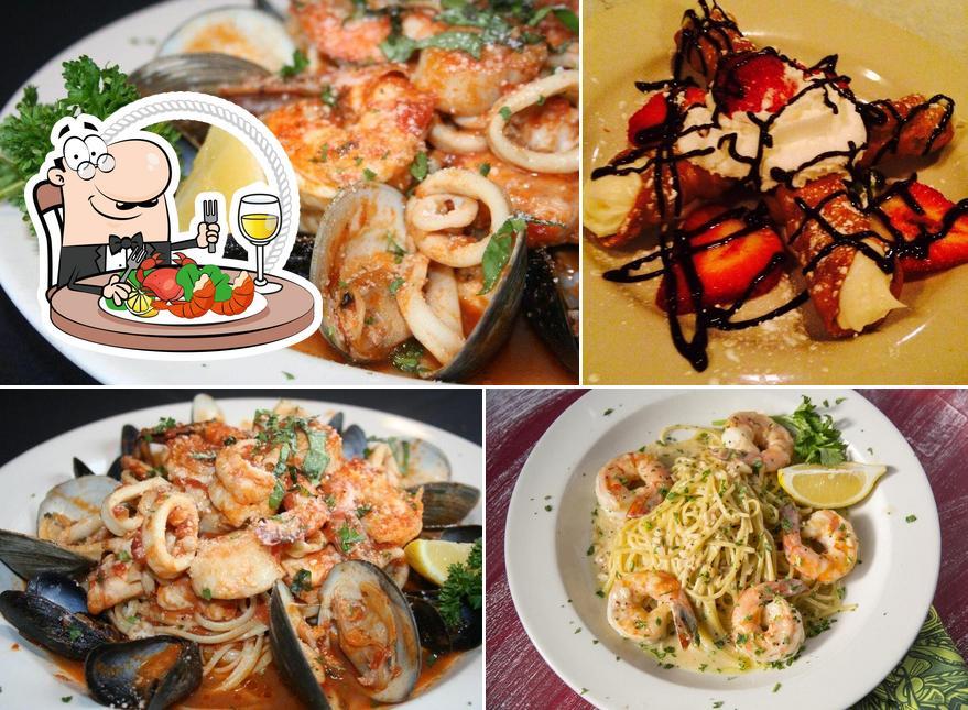 Get seafood at La Familia Restaurant