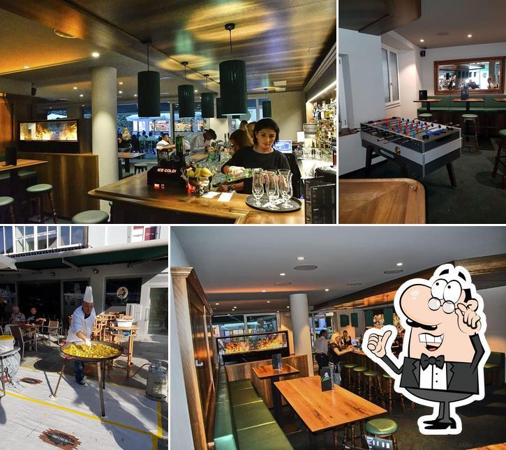 The interior of Churchill Pub