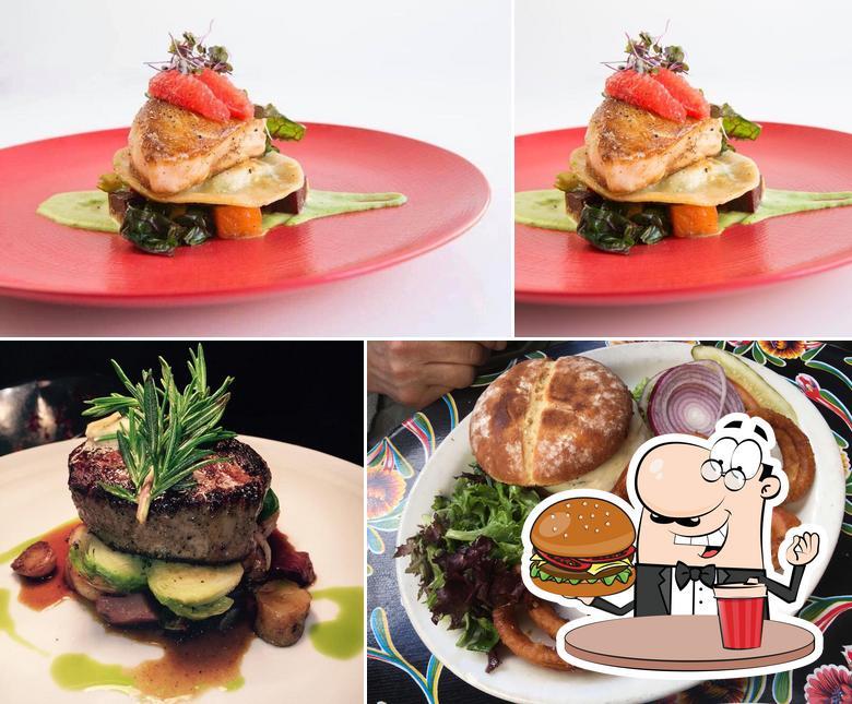 Order a burger at Coyote Café and La Cantina