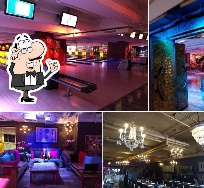 The interior of Tikitiki Bowling Bar