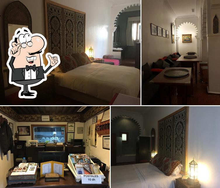 The interior of Blanco Riad
