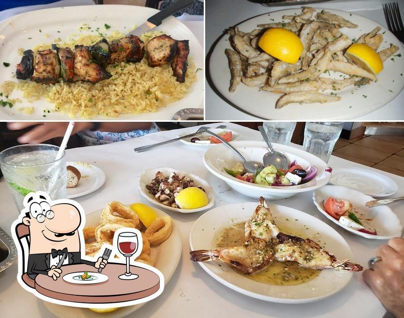 Food at Greek Islands Taverna