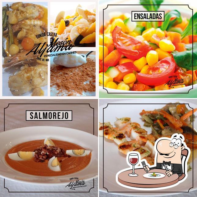 Food at Mesón Aljama
