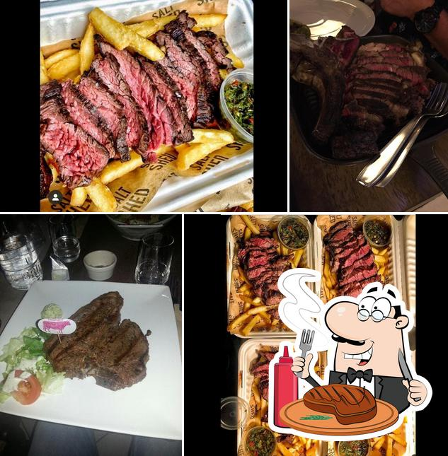 Tómate un plato con carne en La Chaumiere de l'E3